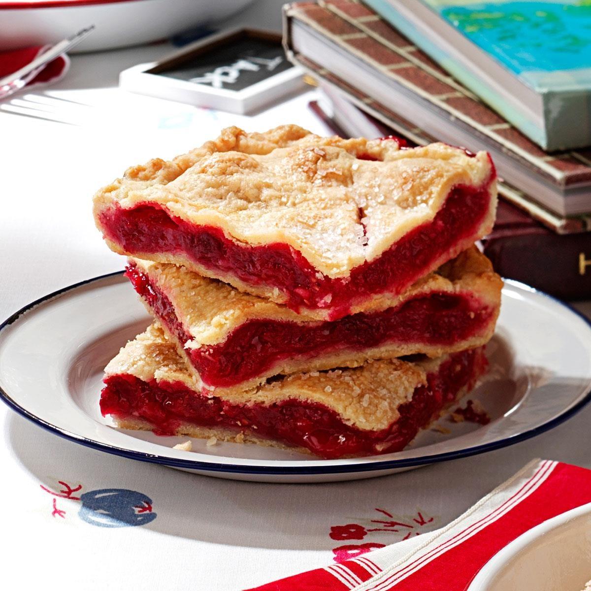 Raspberry Pie Squares Recipe Taste Of Home