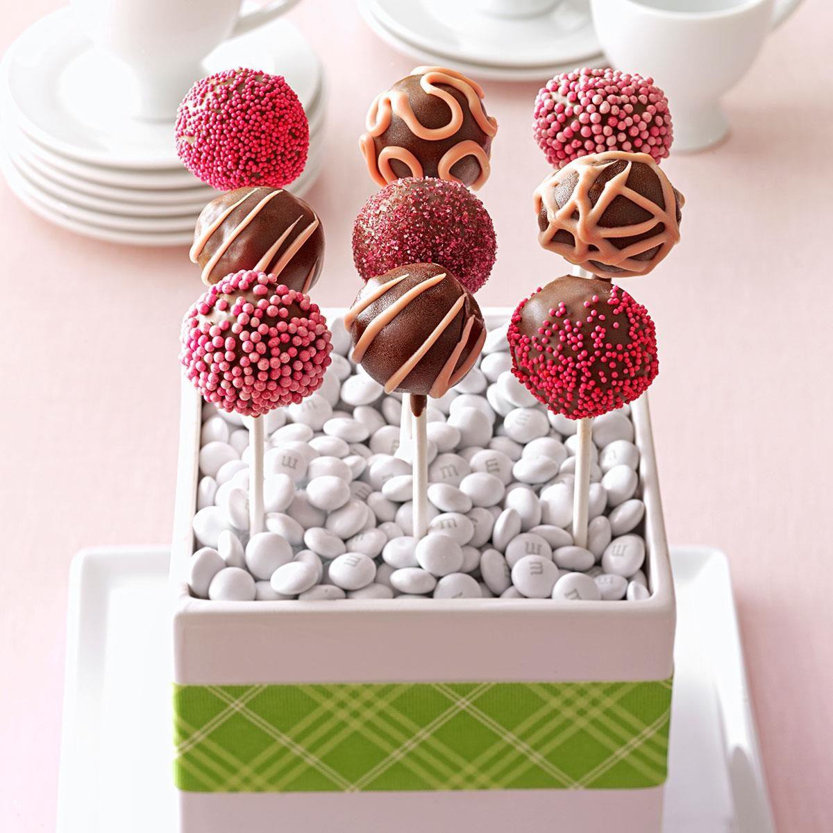 Get Recipe · Raspberry Truffle Cake Pops