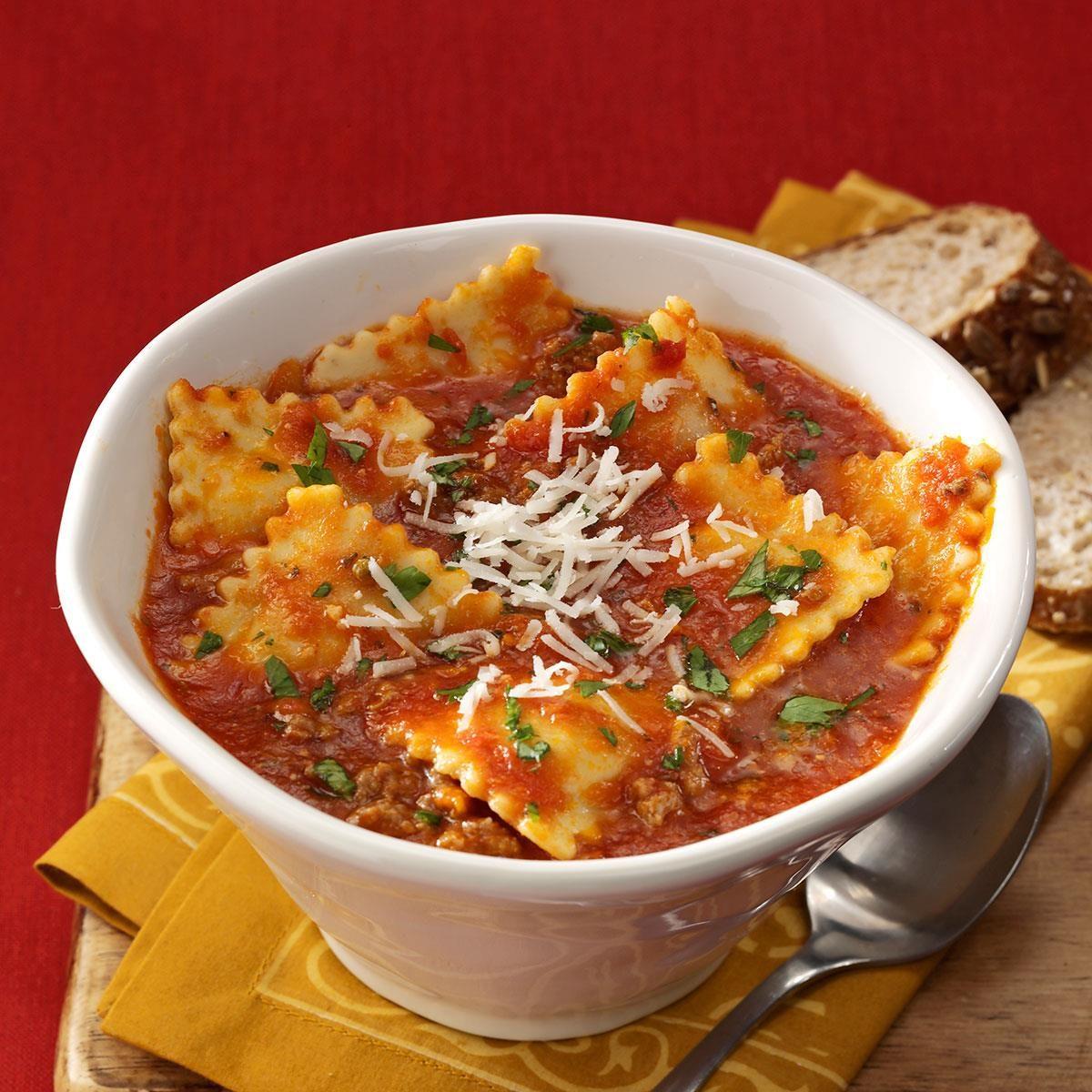 Ravioli Soup Recipe Taste Of Home