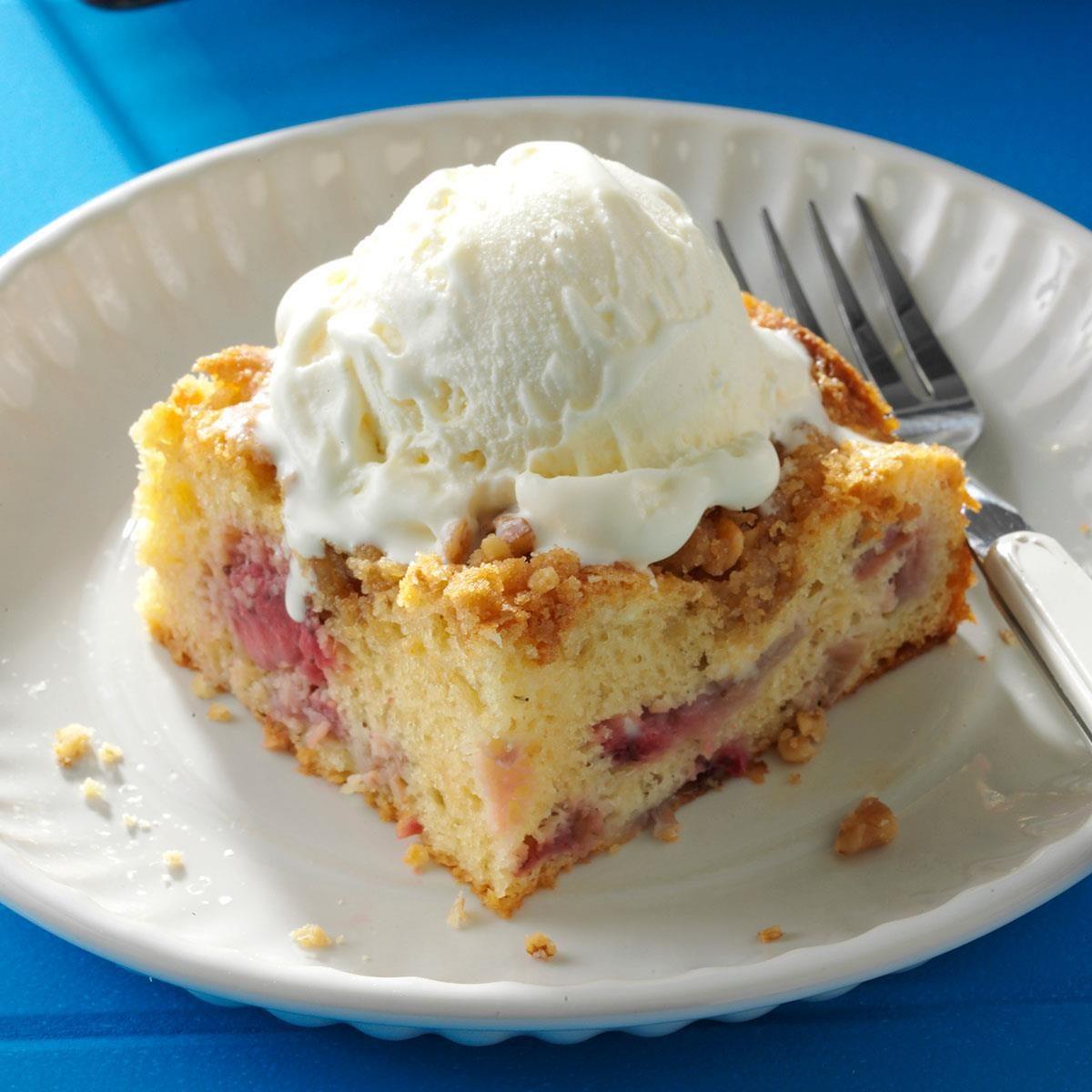 Rhubarb Cake With Cake Mix