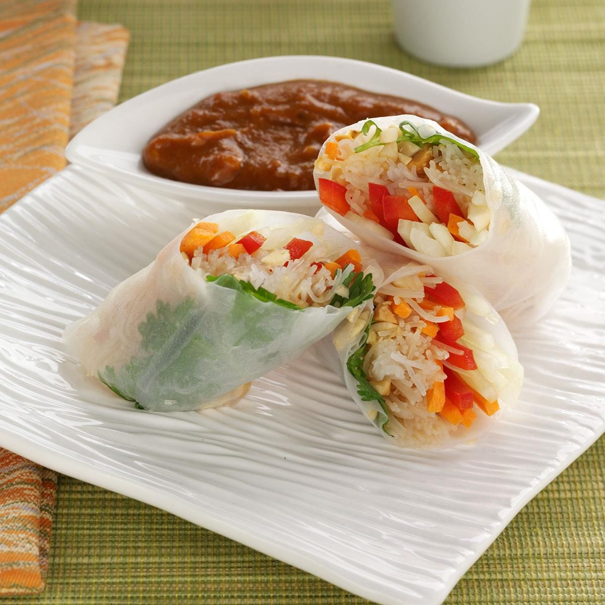 rice paper recipes Salmon gets a crispy crust when it's covered in a rice wrapper and pan seared.