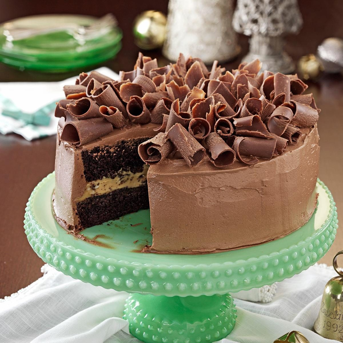 Rich Chocolate Peanut Butter Cake Recipe   Taste of Home