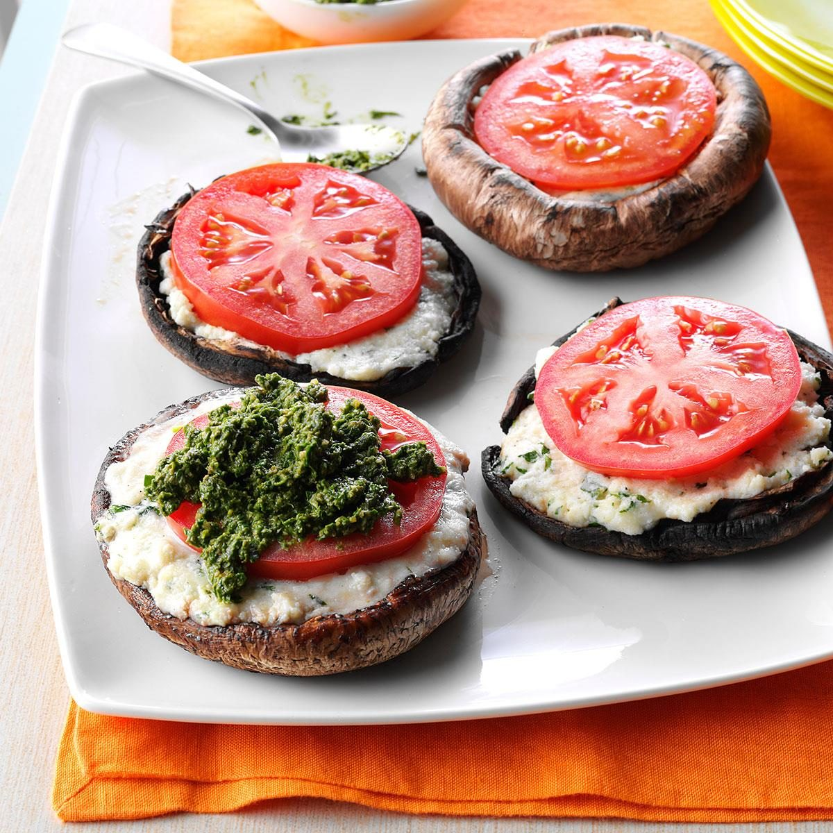 Ricotta-Stuffed Portobello Mushrooms Recipe | Taste of Home