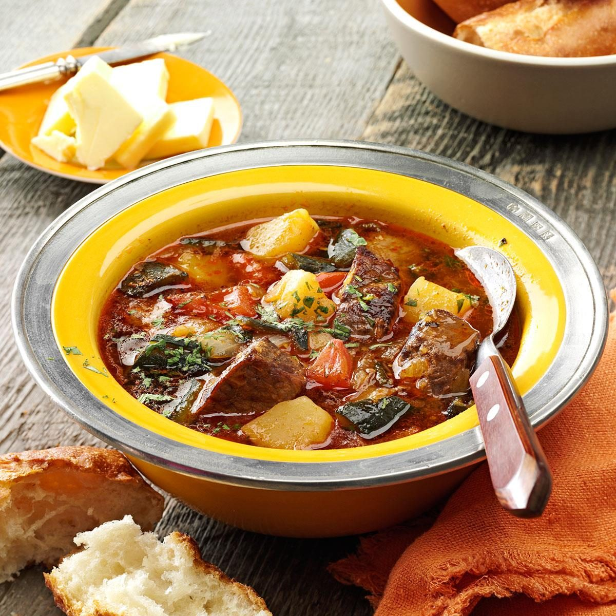Roasted Poblano Beef Stew Recipe   Taste of Home