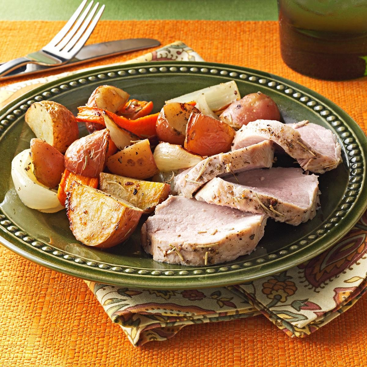 Roasted Pork Tenderloin: Roasted Pork Tenderloin And Vegetables Recipe