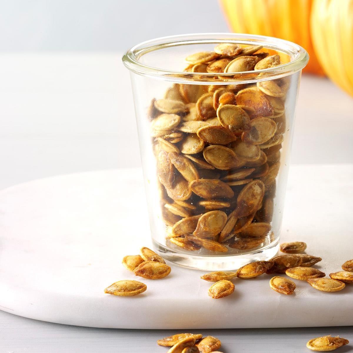 roasted pumpkin seeds recipe taste of home