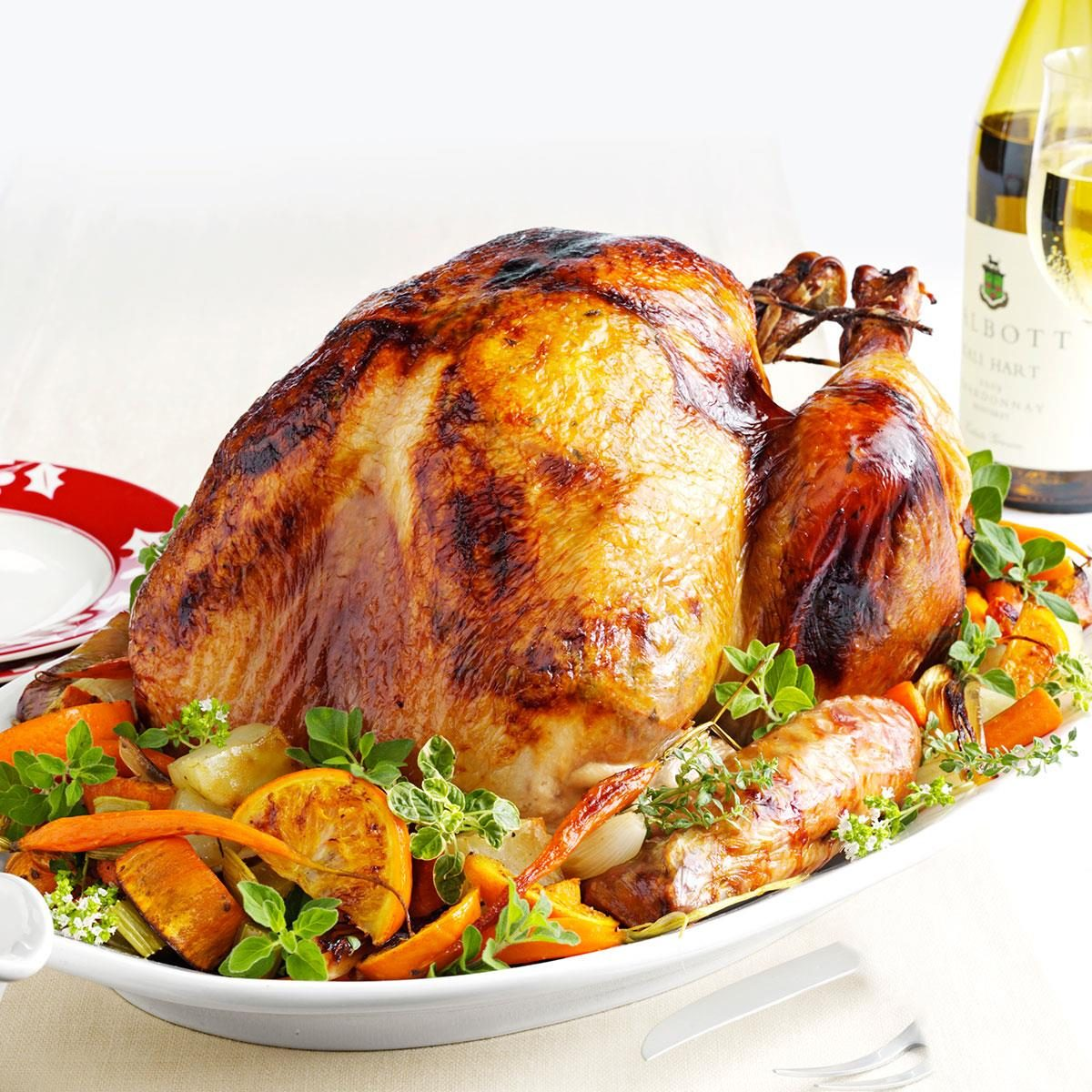 Roasted Turkey A L Orange Recipe Taste Of Home
