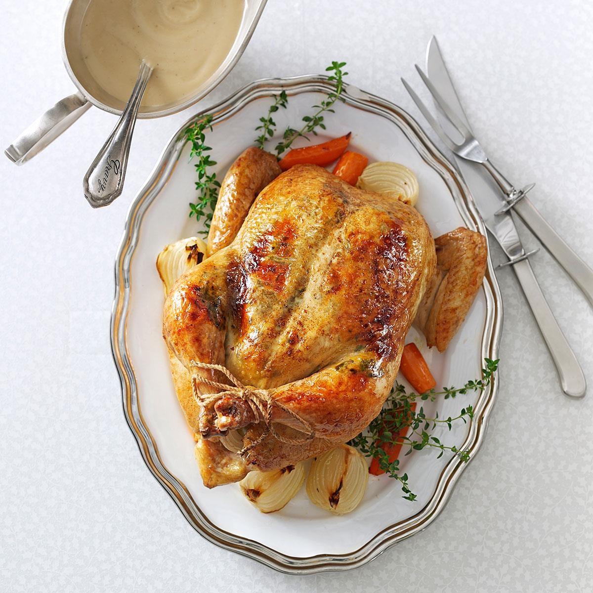 Rosemary-Orange Roasted Chicken Recipe | Taste of Home