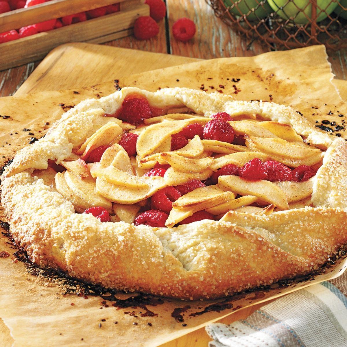 Rustic Apple Raspberry Tart Recipe | Taste of Home