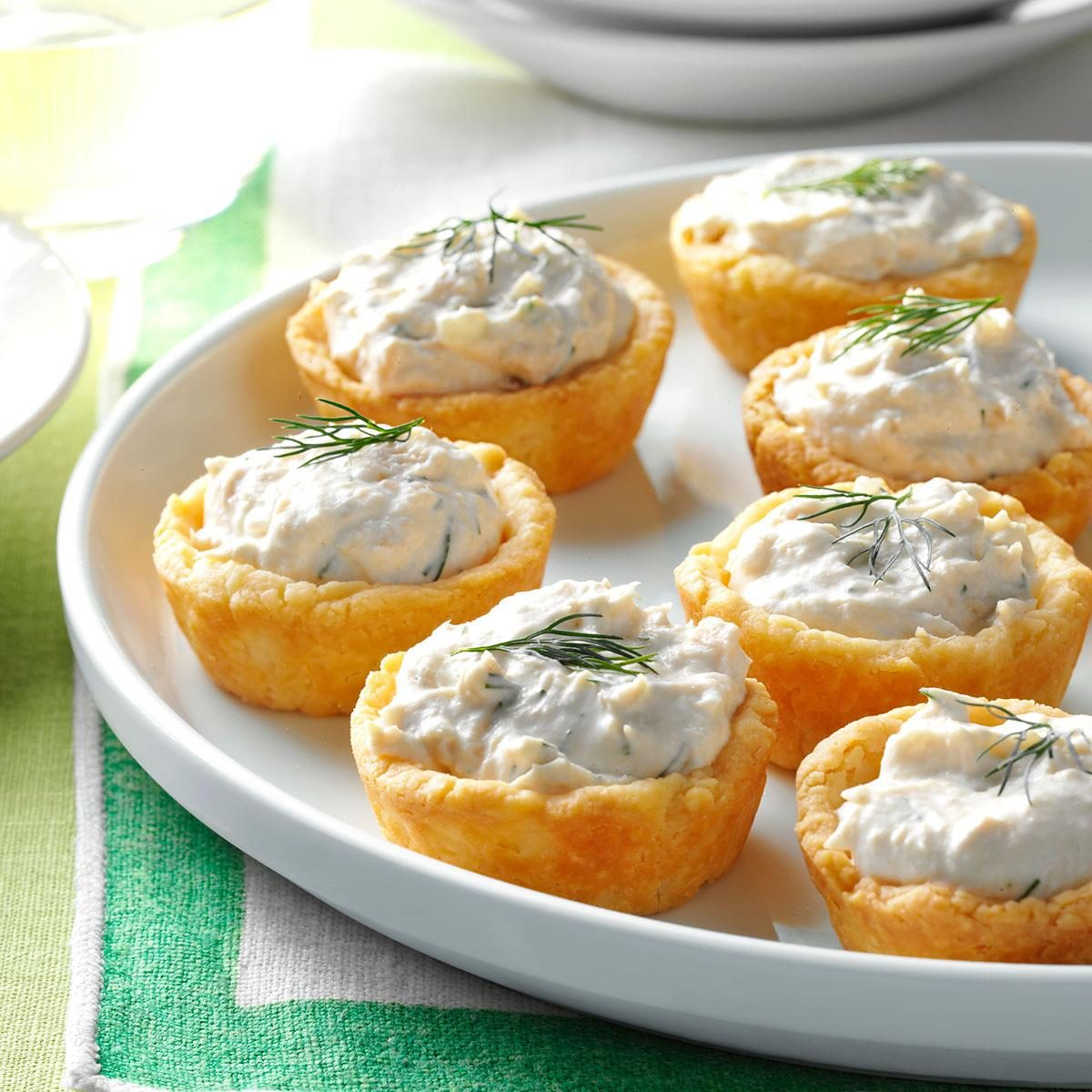 Salmon mousse cups recipe taste of home for Salmon mousse canape