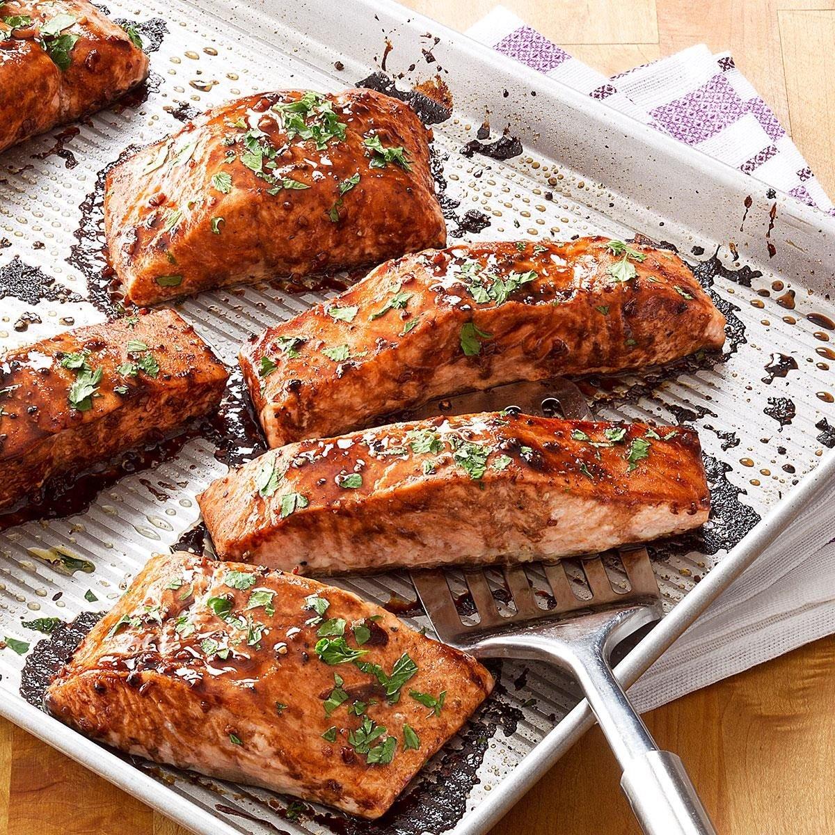 Salmon with balsamic honey glaze recipe taste of home ccuart Gallery