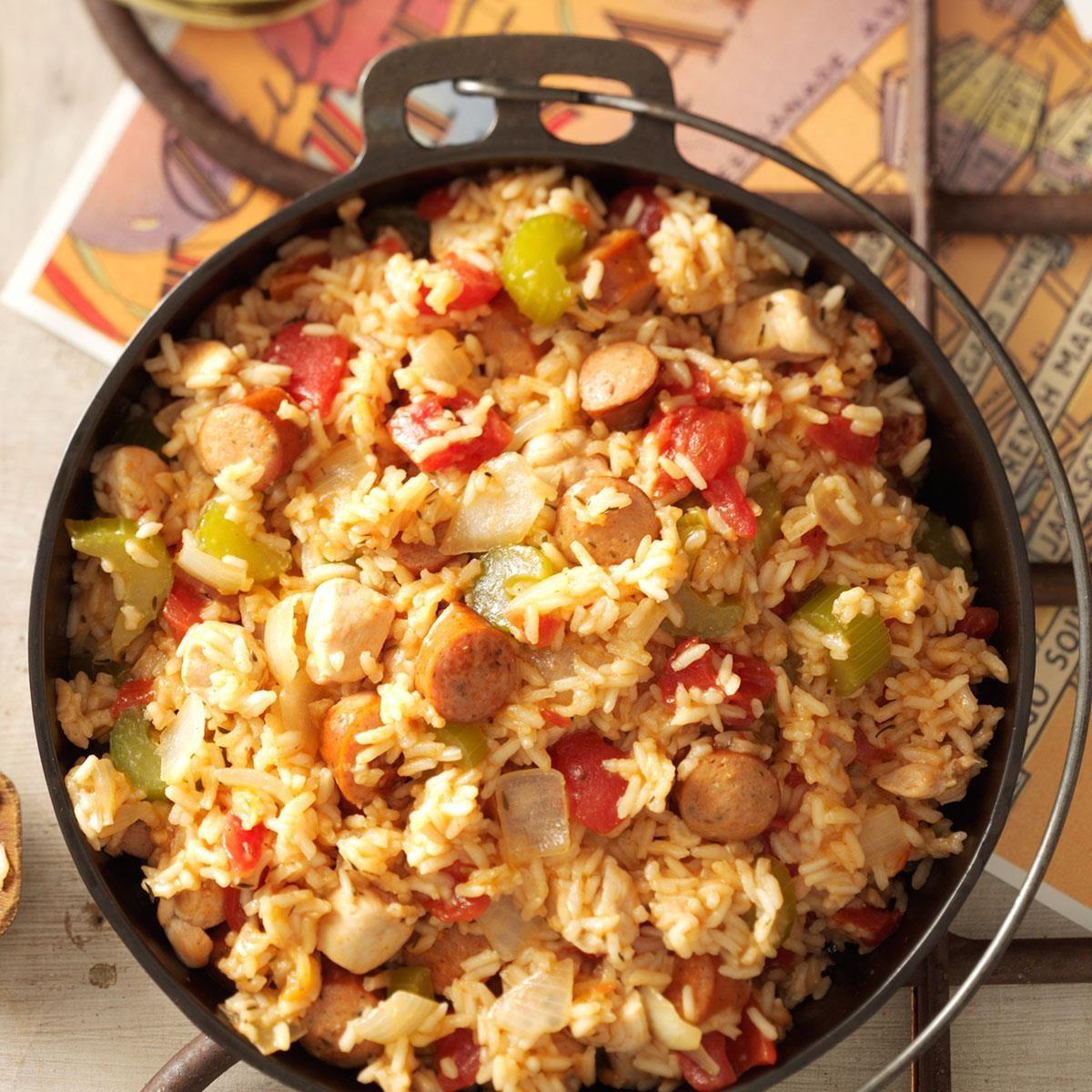 Sausage Chicken Jambalaya Recipe Taste Of Home
