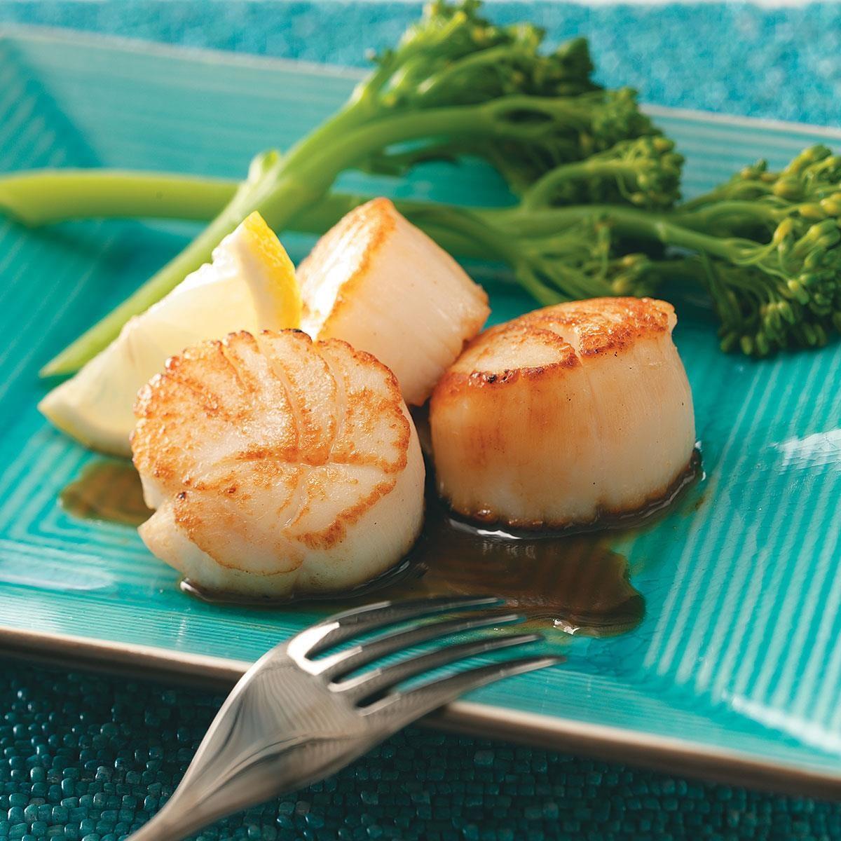 Scallops with Citrus Glaze Recipe | Taste of Home