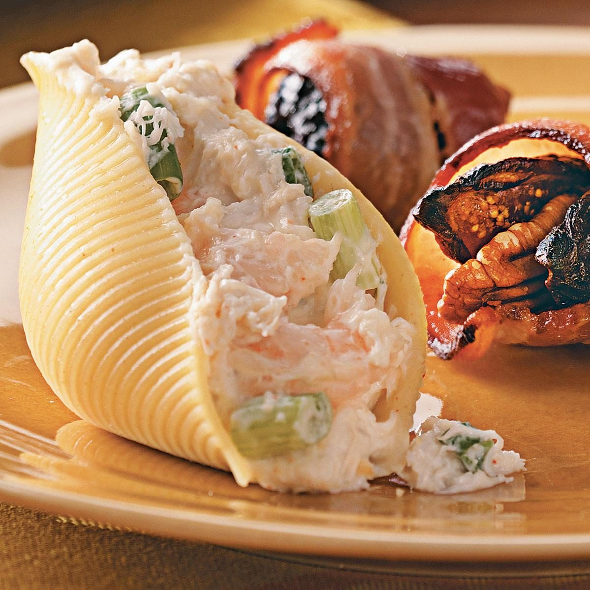 seafood cream cheese stuffed shells recipe taste of home. Black Bedroom Furniture Sets. Home Design Ideas