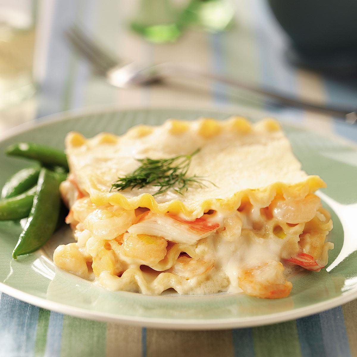 Seafood Lasagna Recipe   Taste of Home