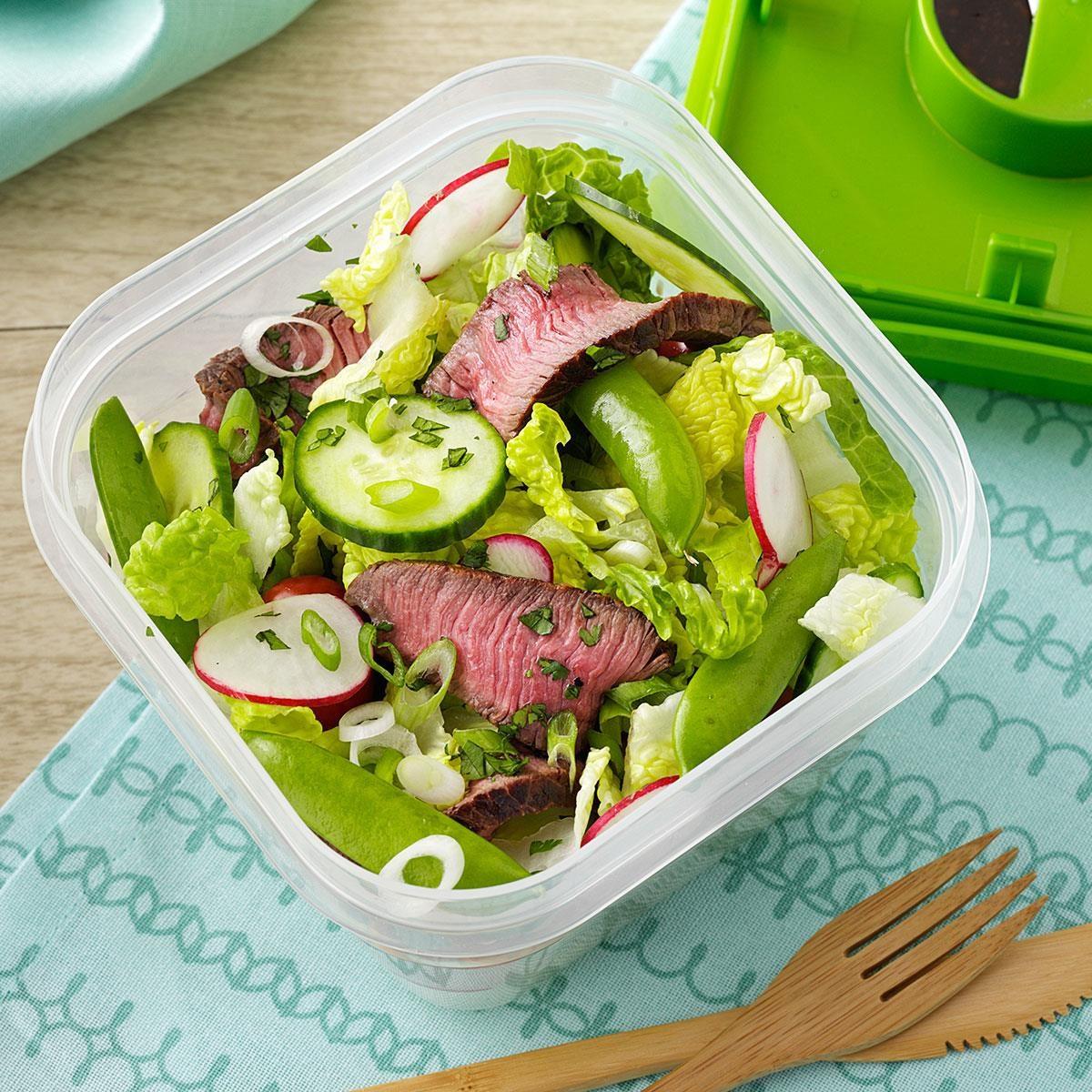 Sesame-Ginger Steak Salad Recipe | Taste of Home
