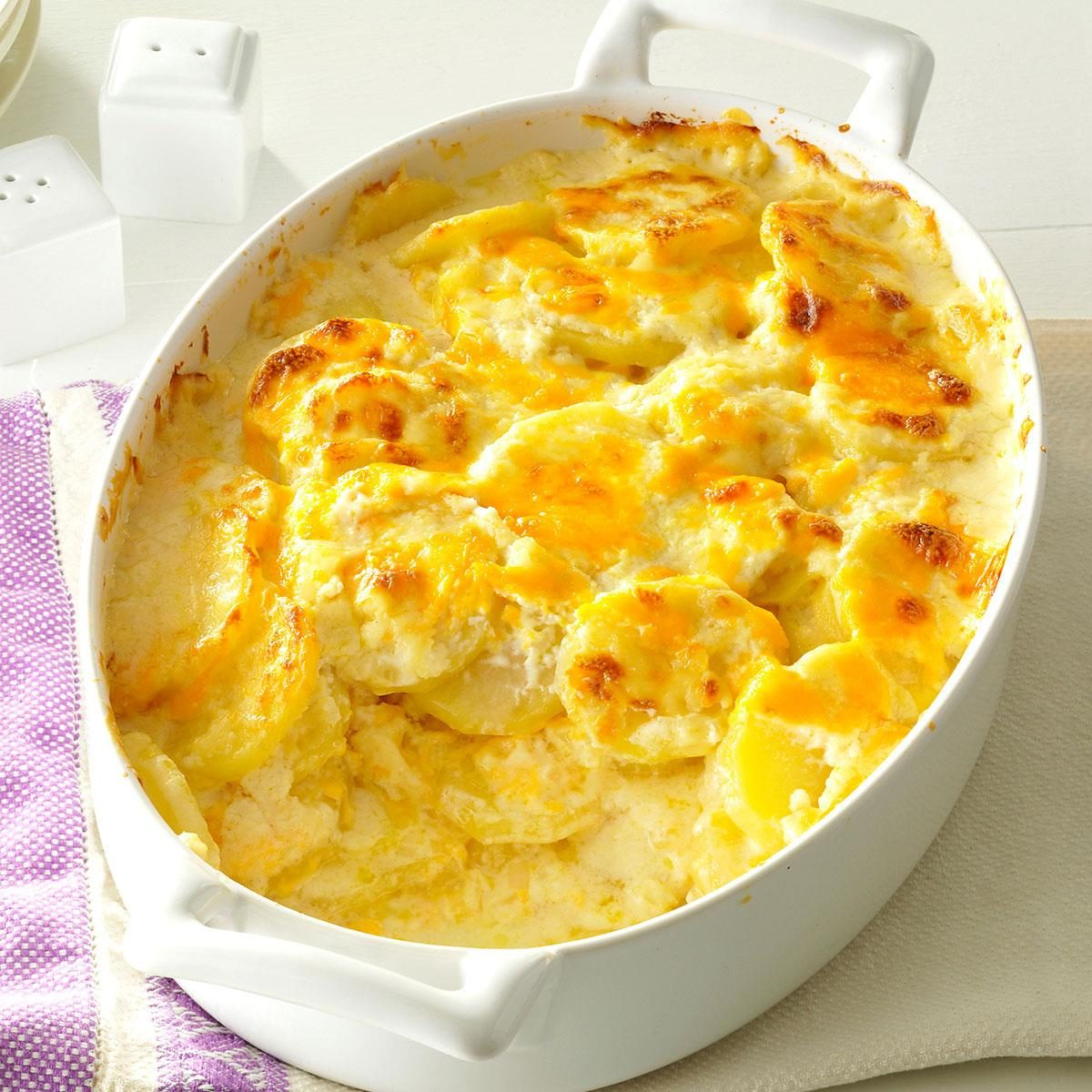 Sharp Cheddar Scalloped Potatoes Recipe