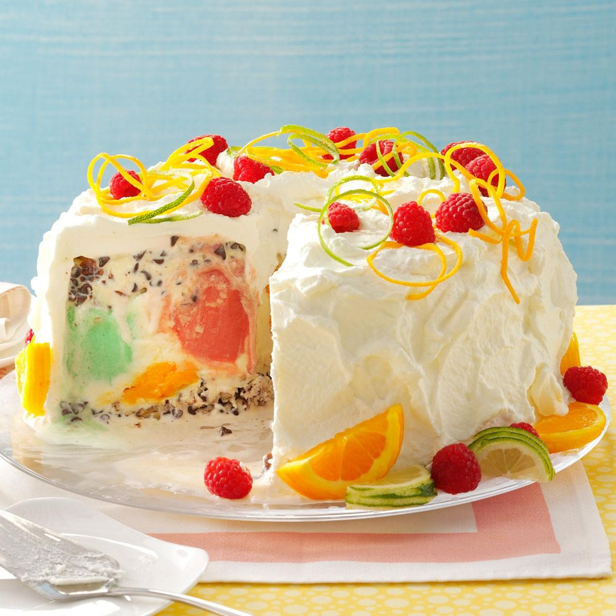Easy Orange Sherbet Cake