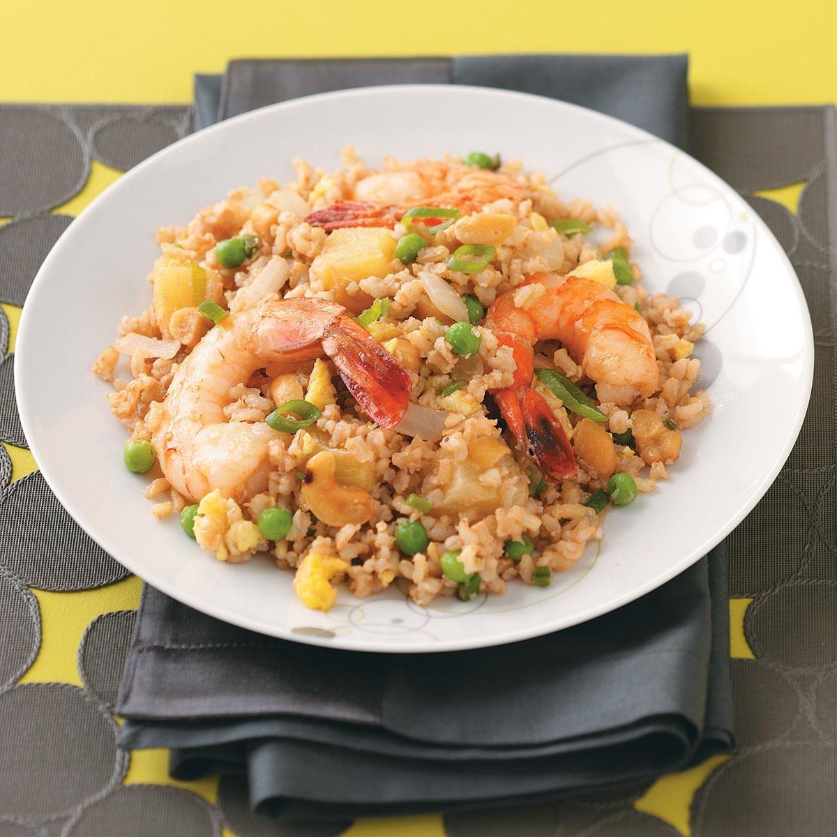 Shrimp and Pineapple Fried Rice Recipe | Taste of Home