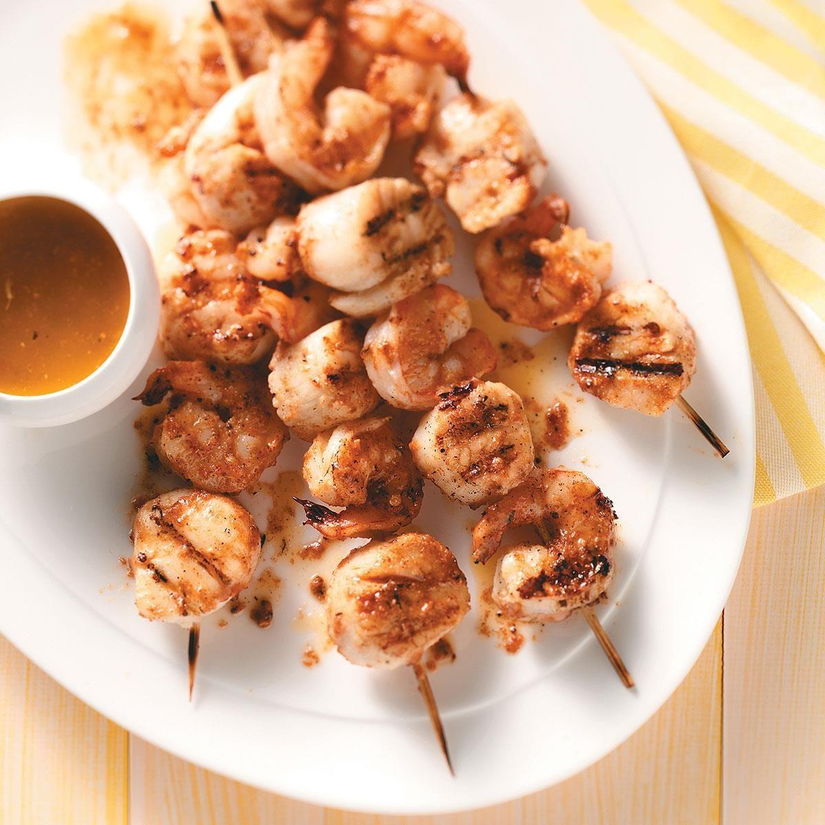 Shrimp and Scallop Kabobs Recipe   Taste of Home