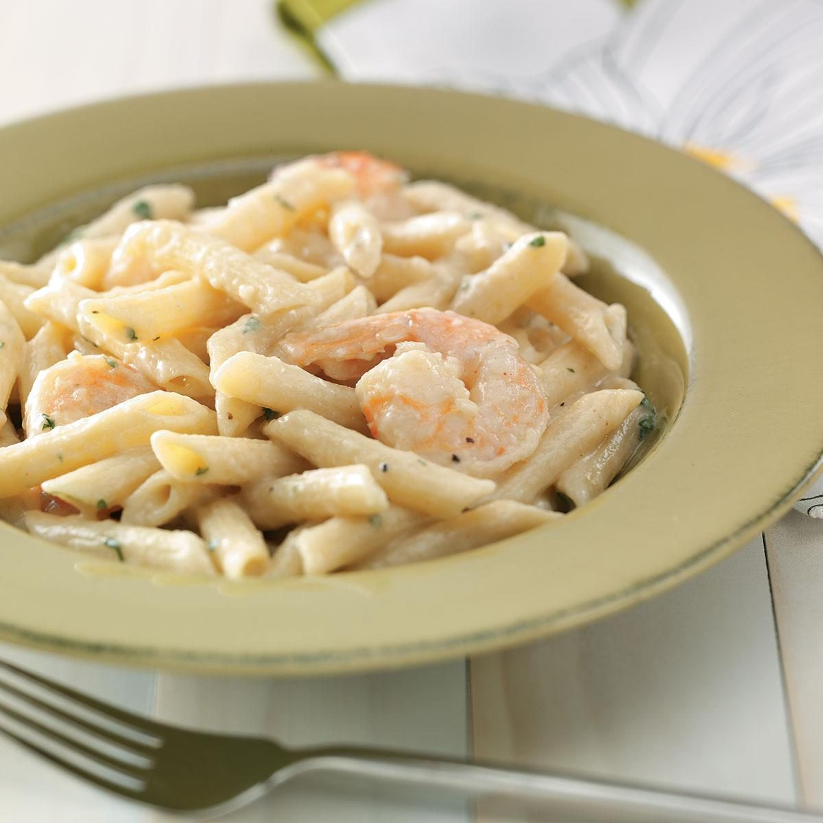 Recipe for penne pasta and shrimp