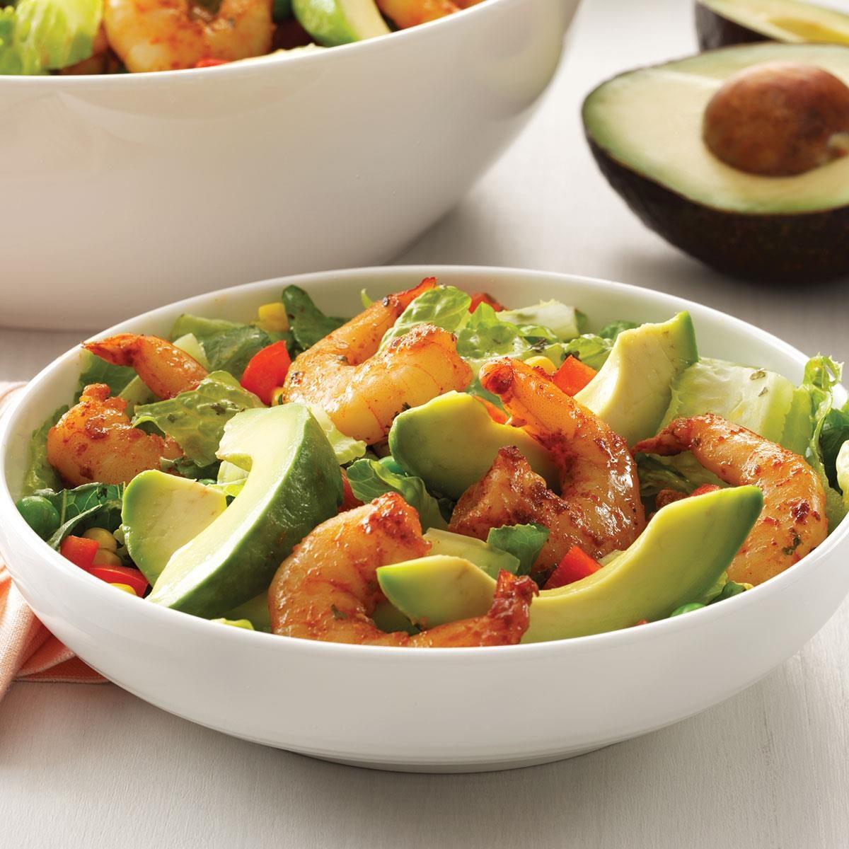 Shrimp Salad with Cilantro Dressing Recipe | Taste of Home