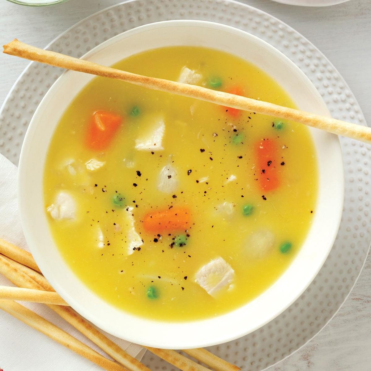 homemade chicken soup recipe simple chicken soup recipe taste of home 30397