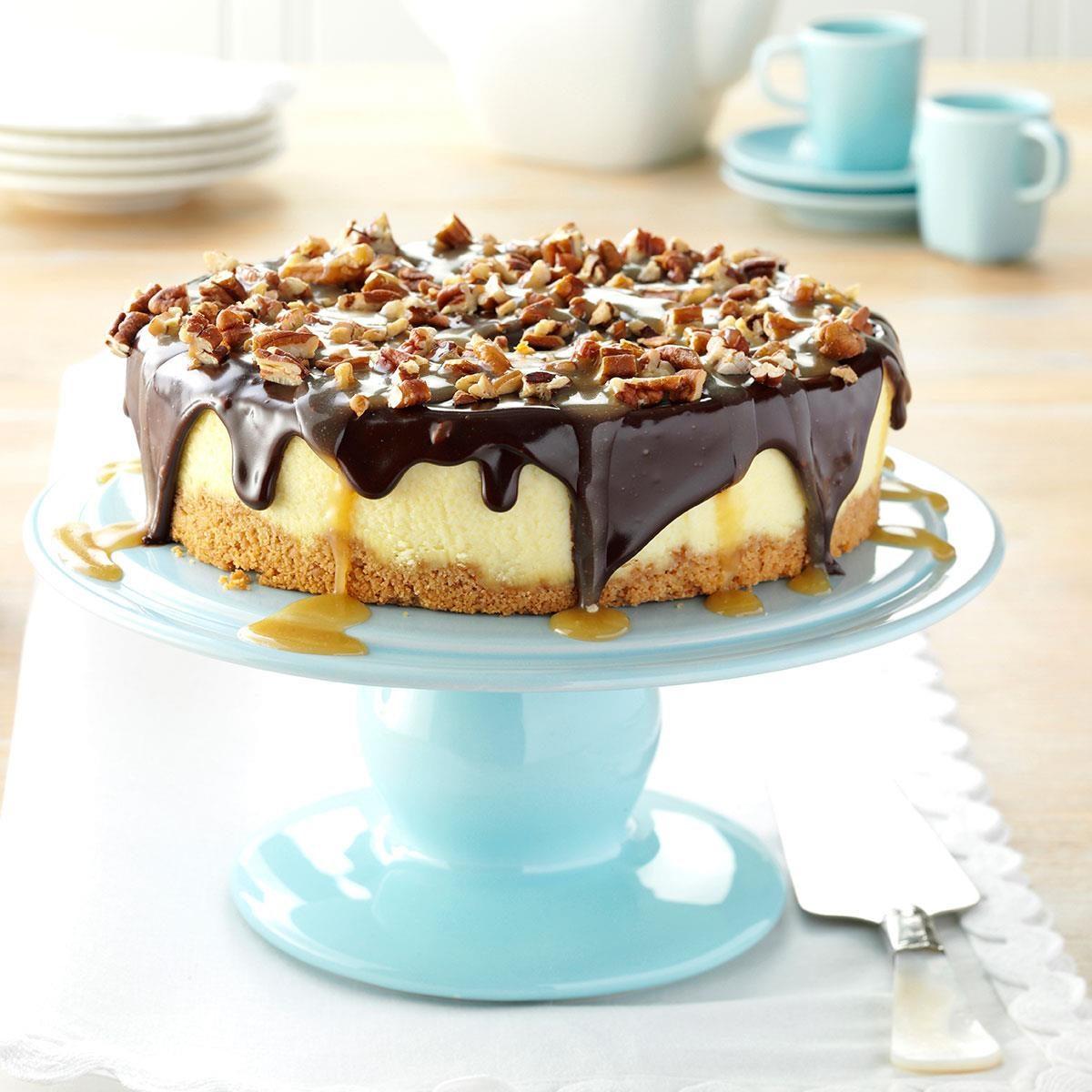 Simple Turtle Cheesecake Recipe | Taste of Home