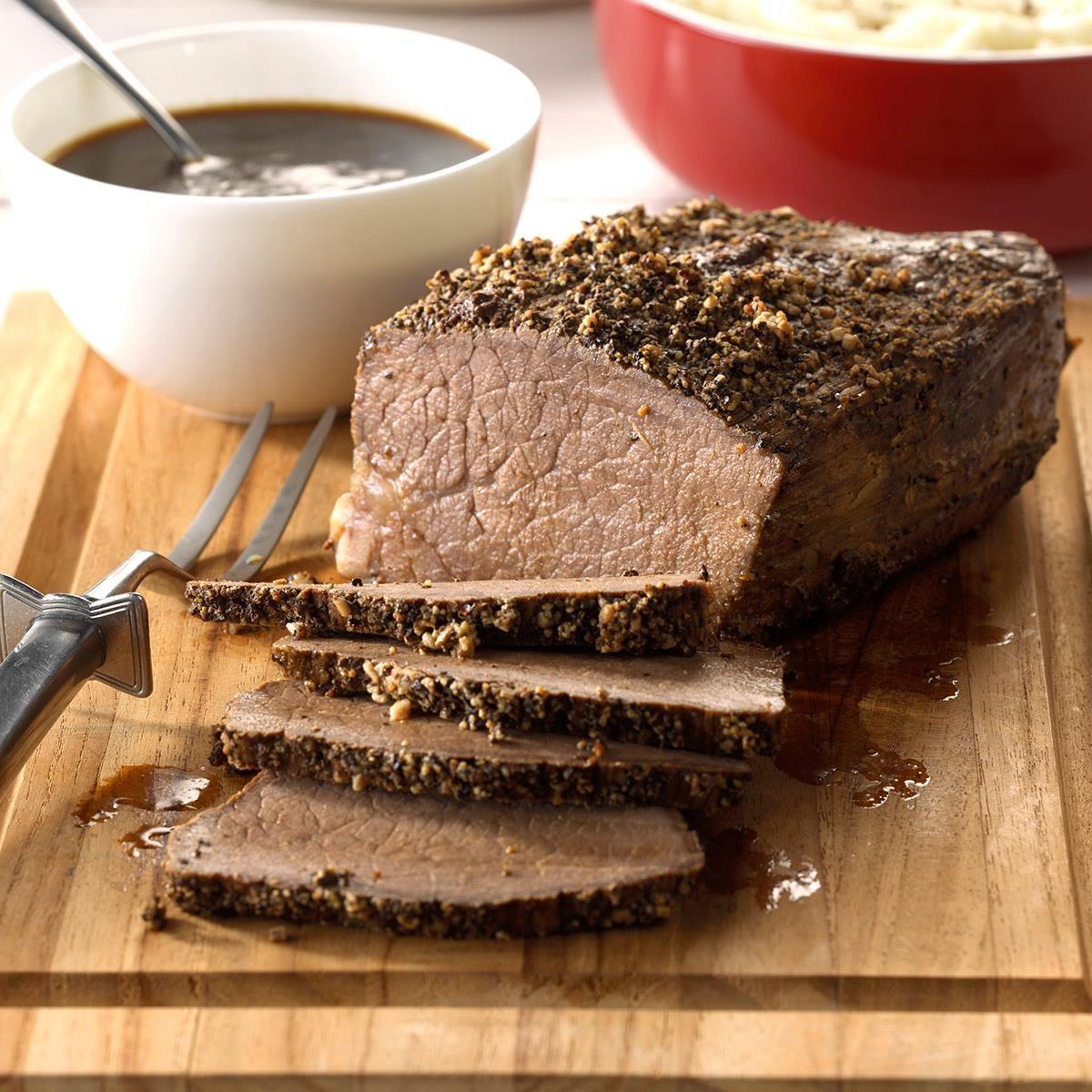 Sirloin Roast With Gravy Recipe Taste Of Home