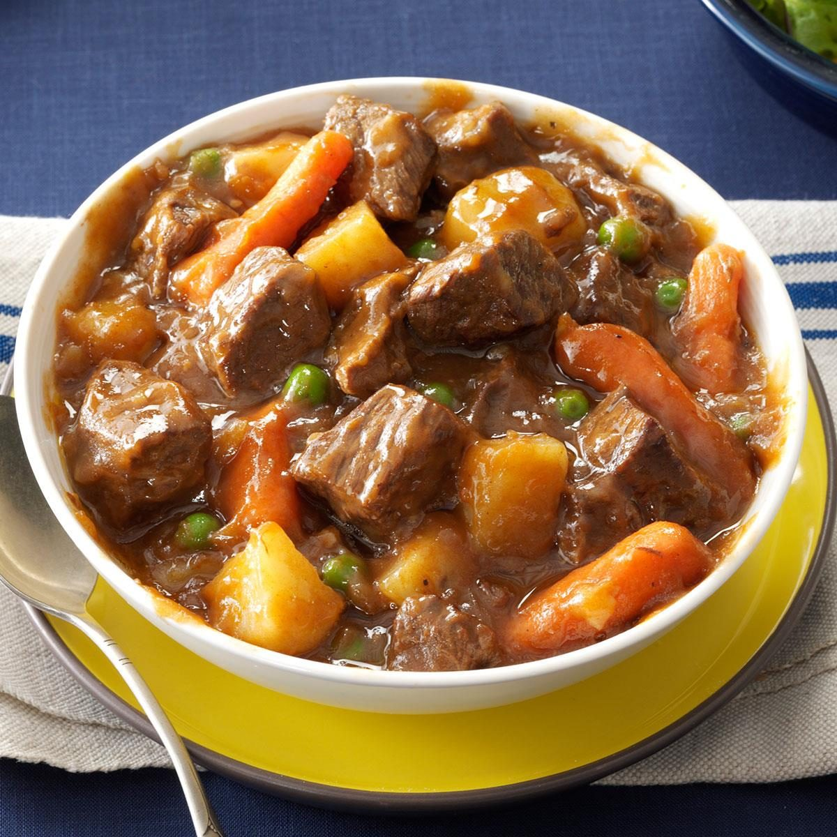 Slow Cooker Beef Vegetable Stew Recipe | Taste of Home