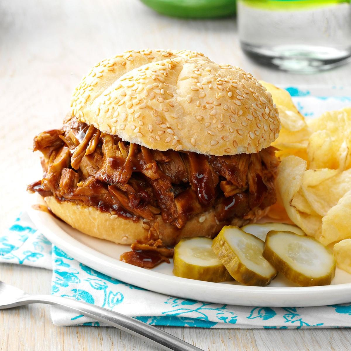 pulled pork sandwiches cooker pulled pork sandwiches recipe taste of home 11995