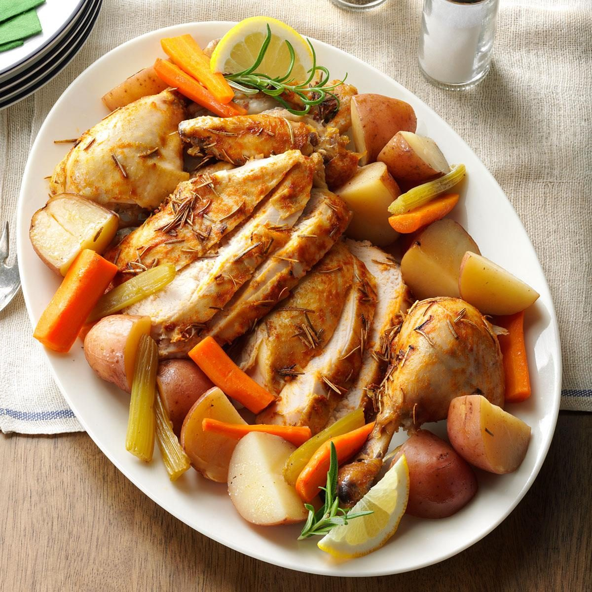 Slow-Roasted Chicken with Vegetables Recipe   Taste of Home