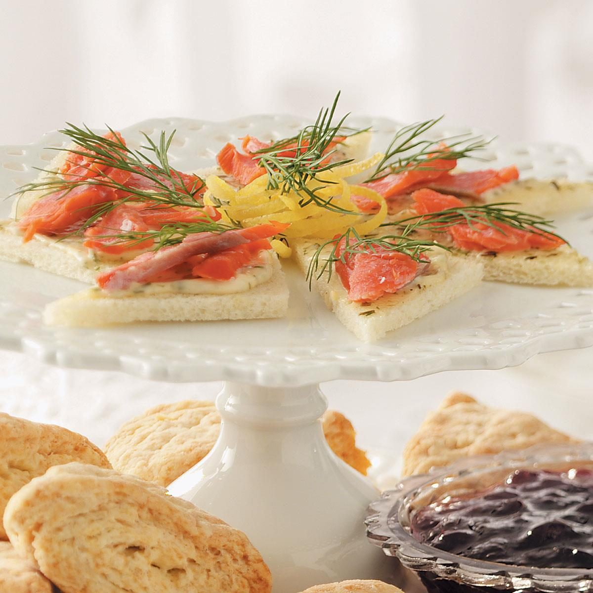 Smoked Salmon Tea Sandwiches Recipe Taste Of Home