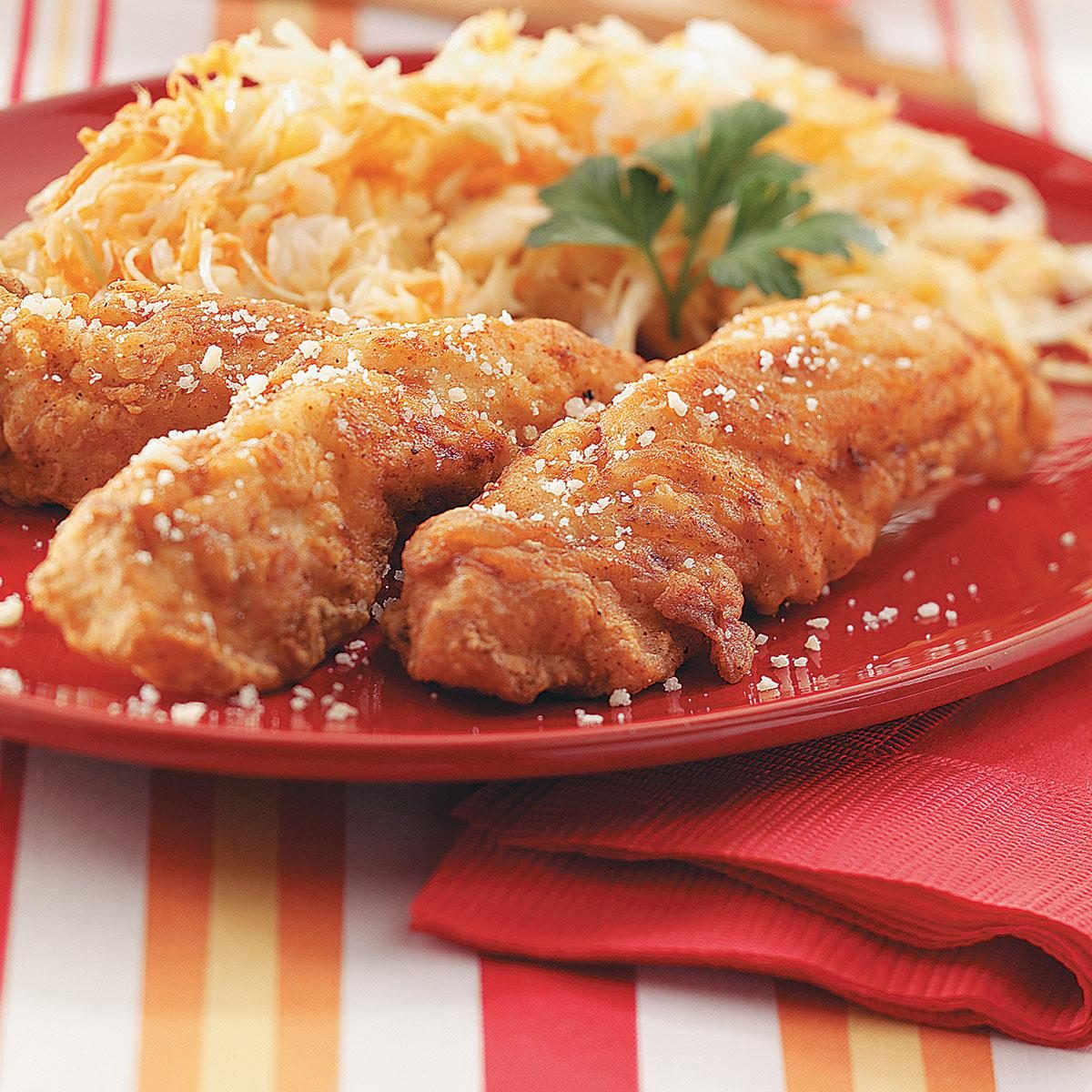 Recipes With Chicken Fingers: Southern Fried Chicken Strips Recipe