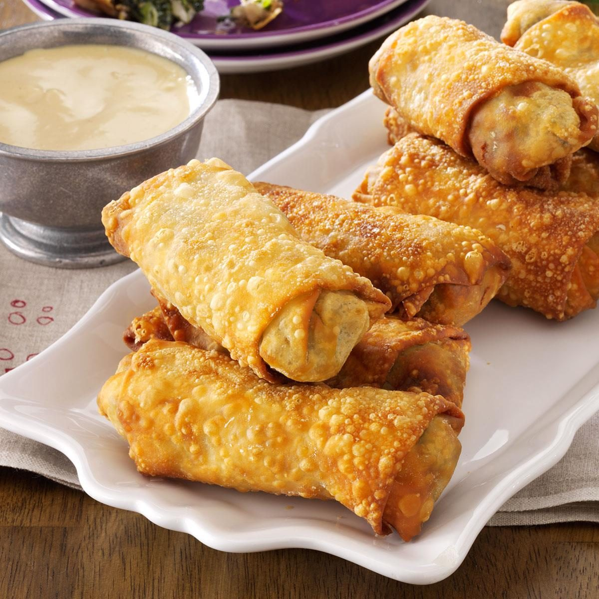 how to cook homemade frozen egg rolls