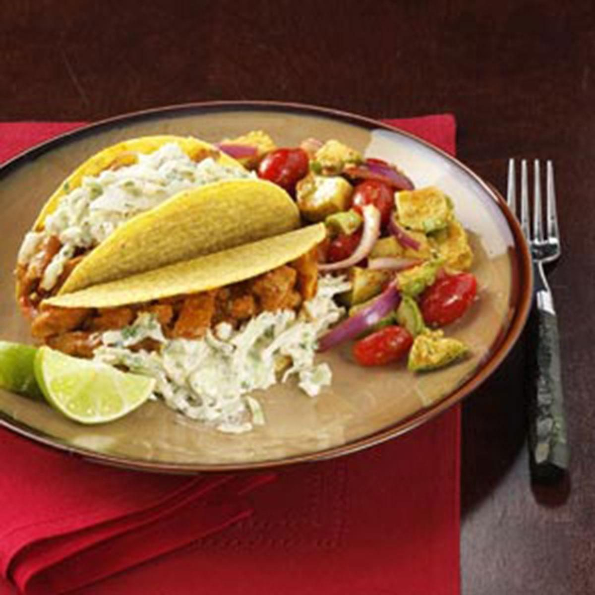 Southwest fish tacos recipe taste of home for Fish burrito recipe