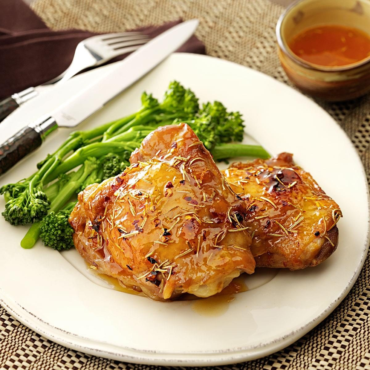 Spicy Apricot Chicken Thighs Recipe