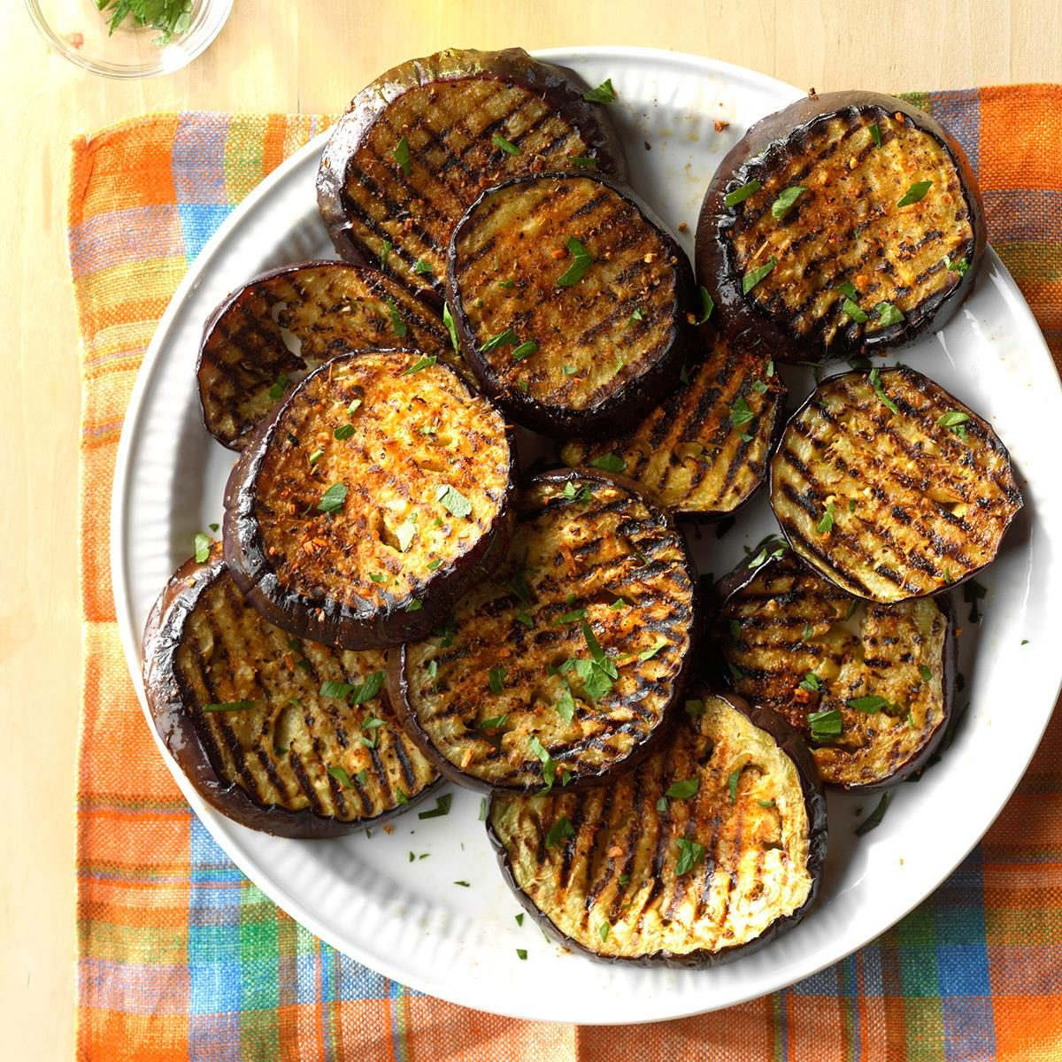 grilled eggplant recipes spicy grilled eggplant recipe taste of home 30259