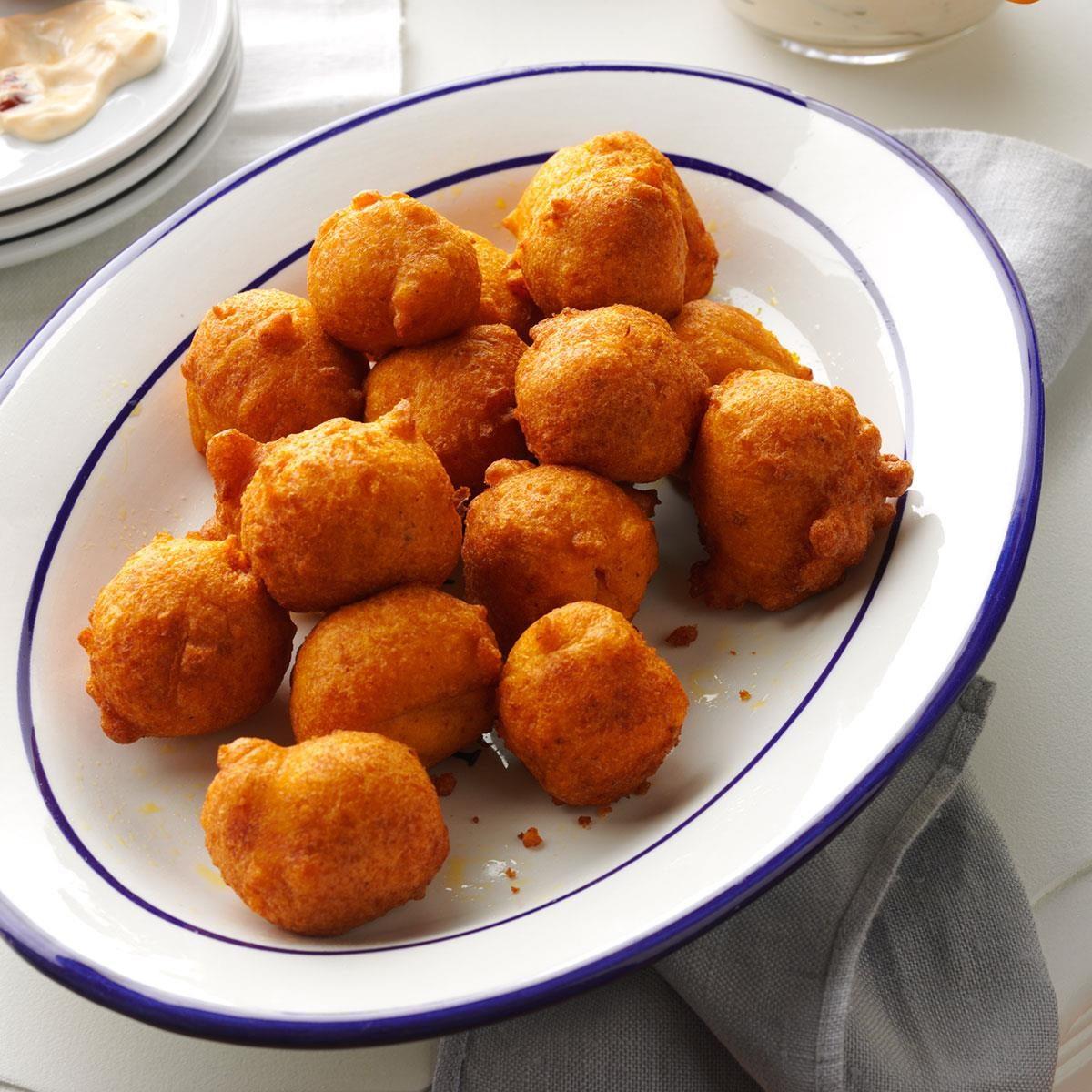 Spicy Pumpkin Fritters Recipe | Taste of Home