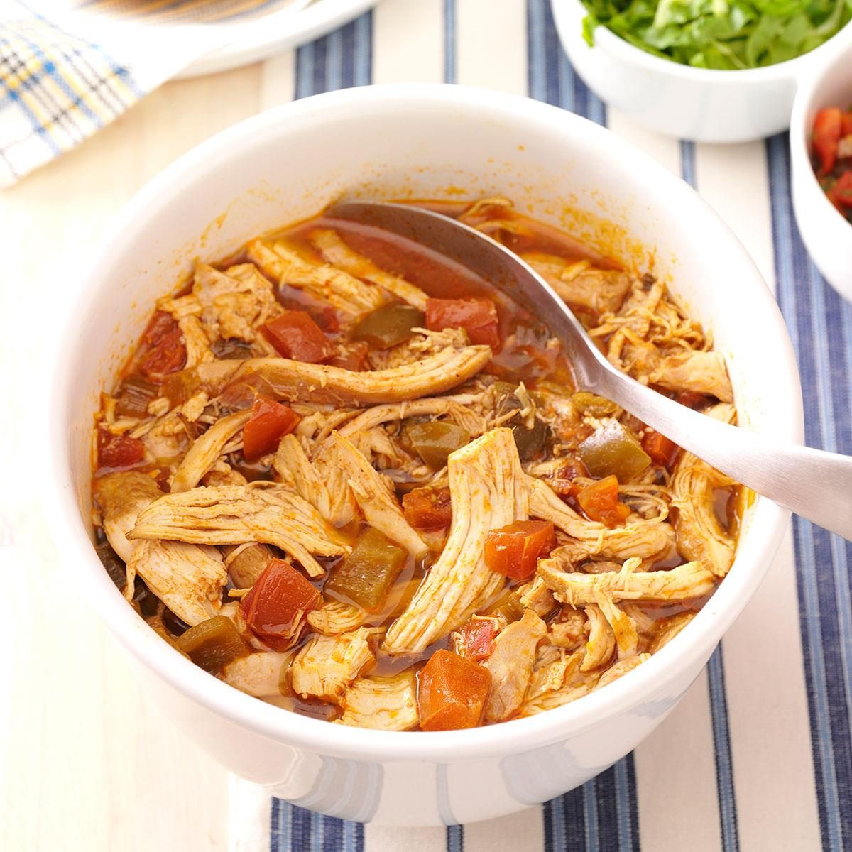 Mexican spicy shredded chicken recipe