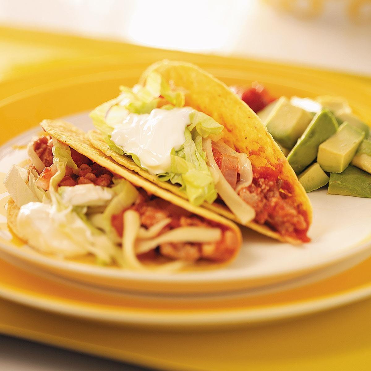 Spicy Turkey Tacos Recipe | Taste of Home