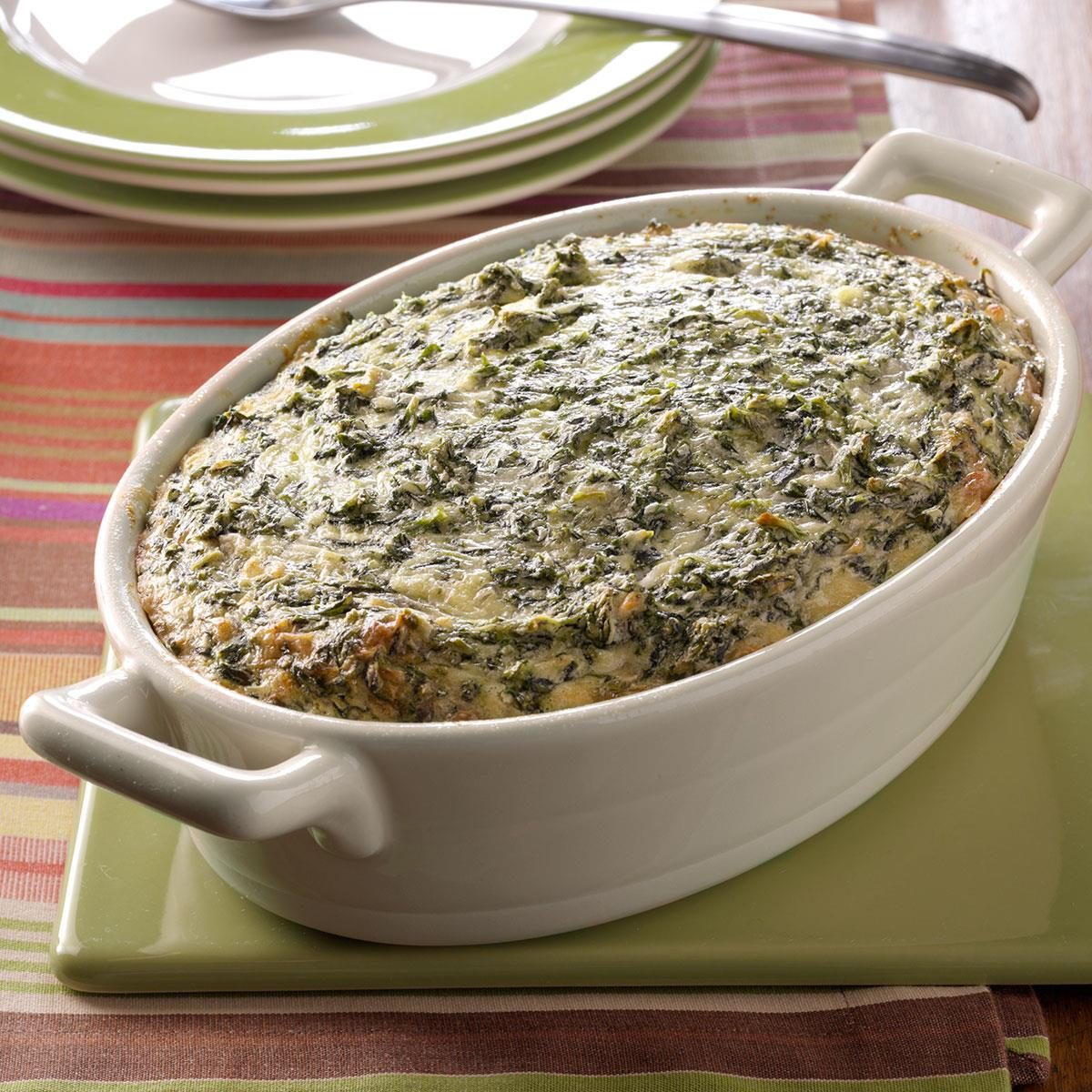 spinach souffle side dish recipe | taste of home