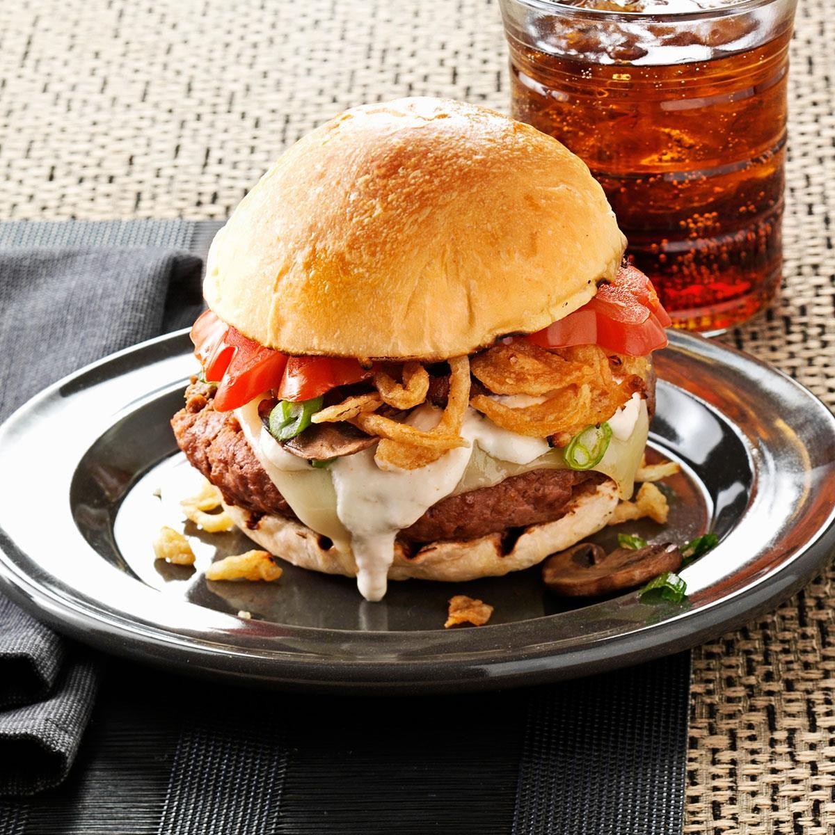 Steak House Burgers Recipe | Taste of Home