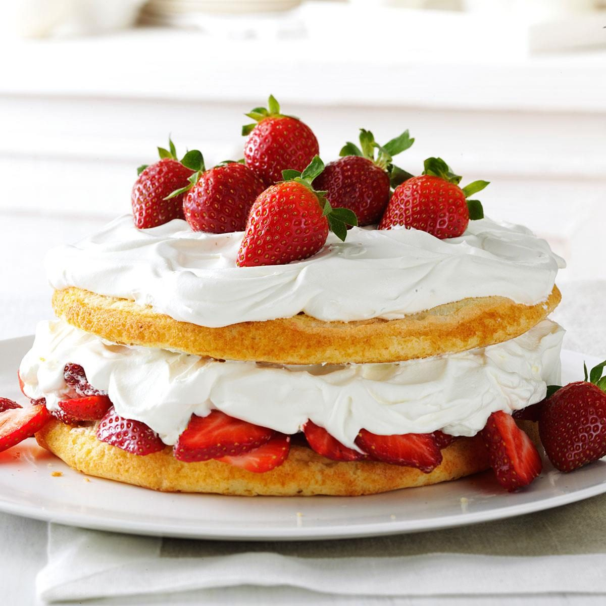 Strawberries & Cream Torte Recipe | Taste of Home