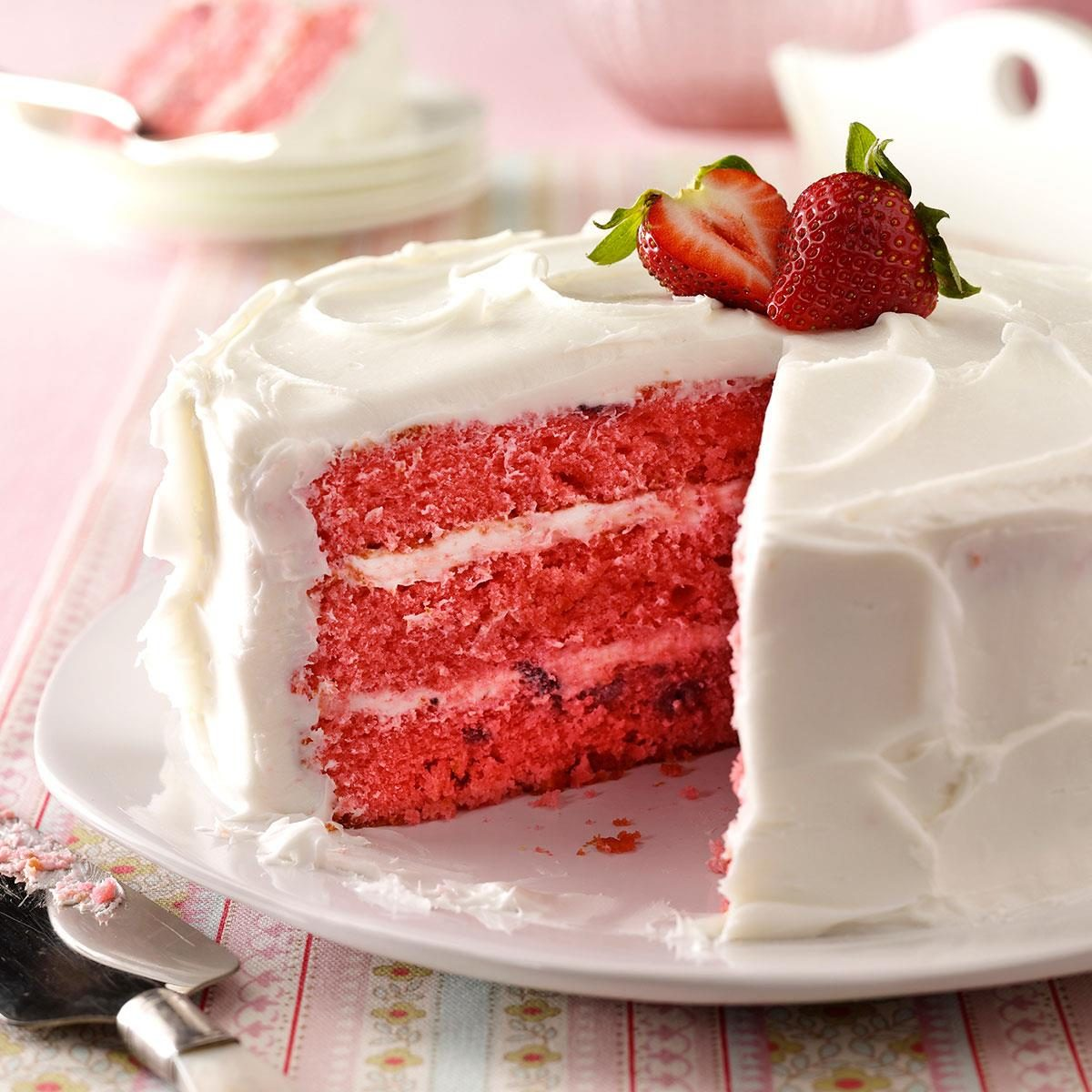 Strawberry Cake Recipe | Taste of Home