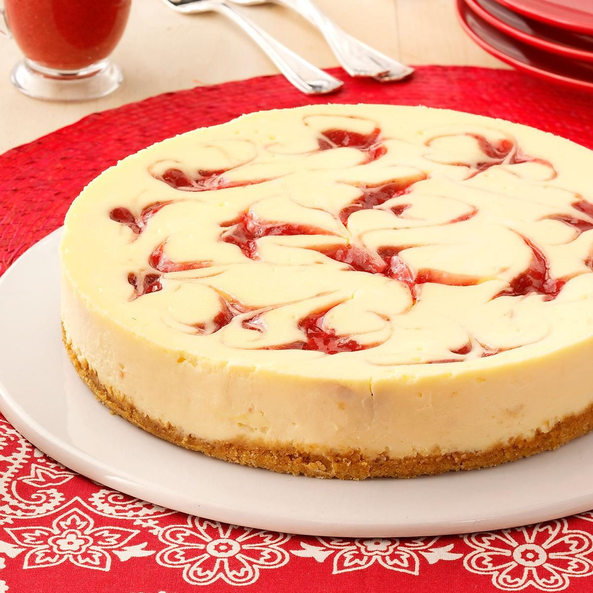 Strawberry Cheesecake Swirl Recipe | Taste of Home