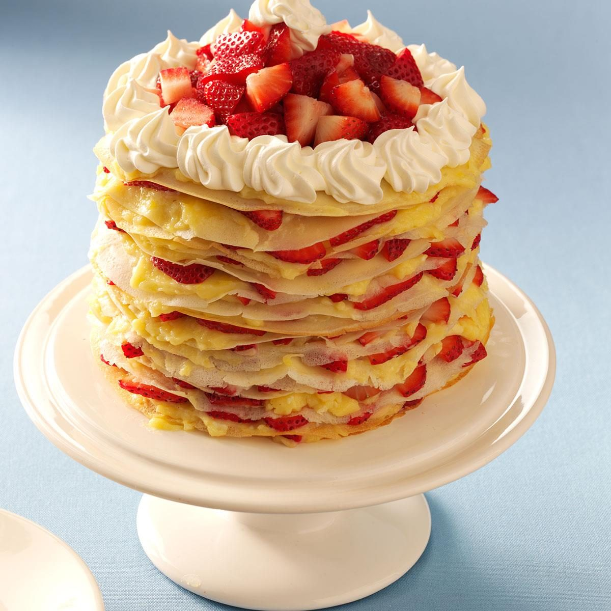 Strawberry-Lemon Crepe Cake Recipe | Taste of Home