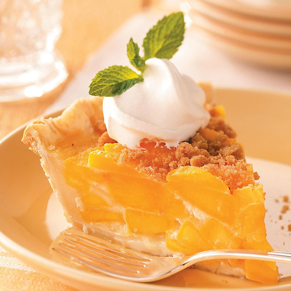 Streusel Peach Pie Recipe | Taste of Home