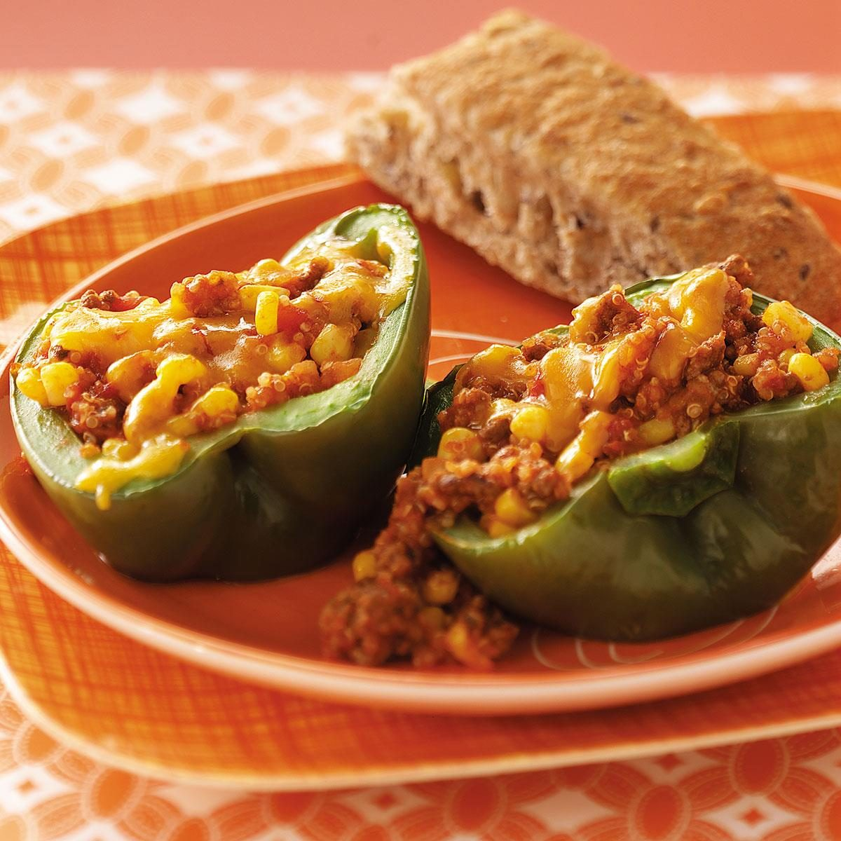 Stuffed Peppers With Quinoa Recipe Taste Of Home