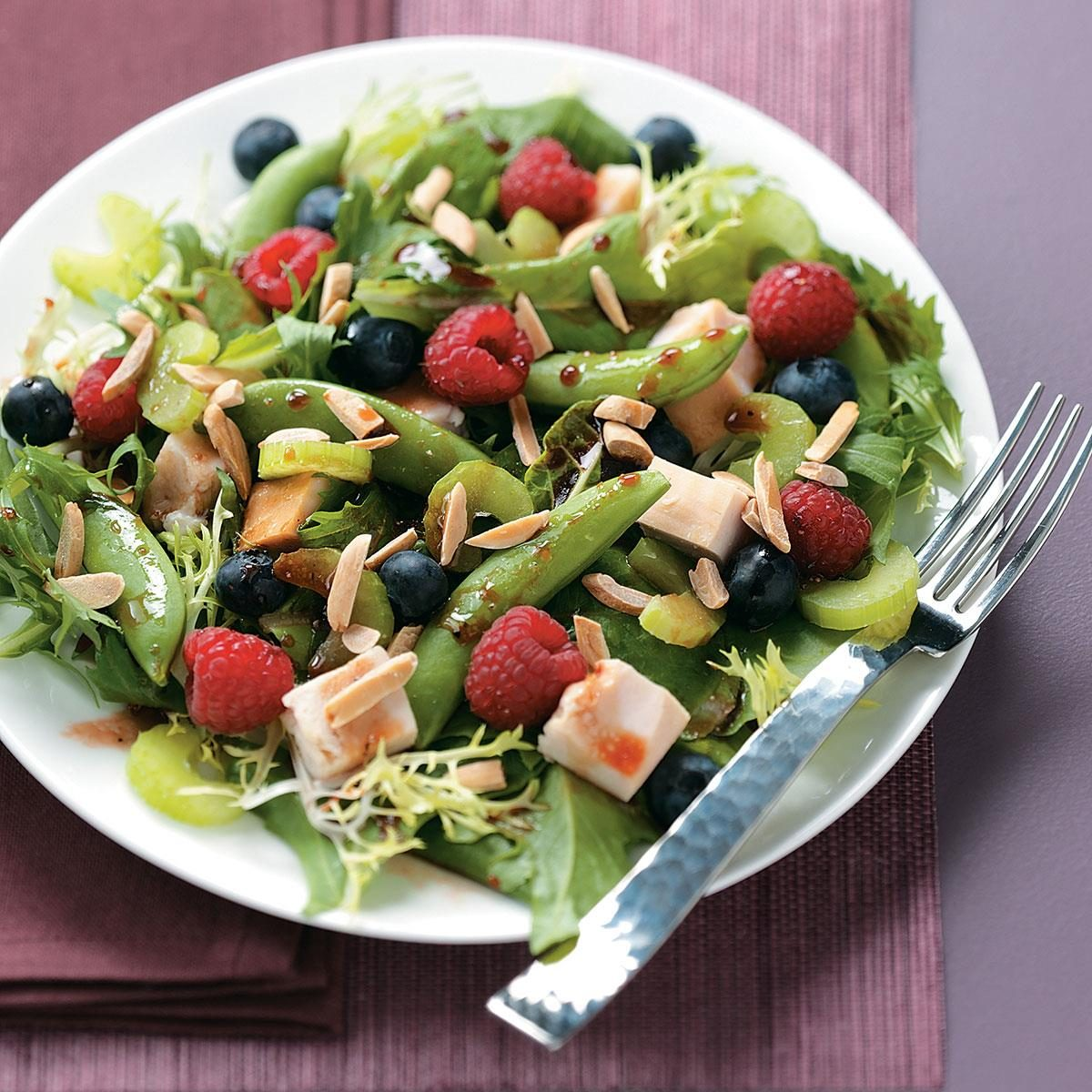 Summer Chicken Salad With Raspberry Vinaigrette Recipe